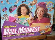 Best board game ever. It was a 2 story mall inside and your player walked around and you had to buy stuff before the other person.