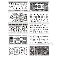 $25.99 10 Sheets/set Née Jolie Nail Art Stamp Template Rectangle Image Plate NJX 001-010 12*6cm - BornPrettyStore.com