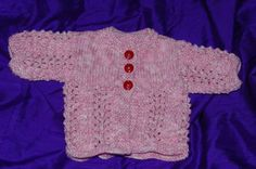 Baby Jacket  Knitted in Pinks  £7.50