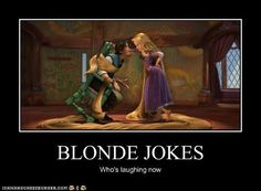Blonde jokes by ~MorganaDarkness on deviantART Made me laugh harder than it should have!
