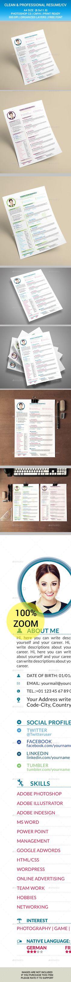 Resume Typography, Cv design and Resume cv