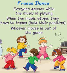 Fun indoor game for kids - freeze dance