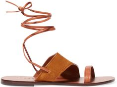 Sandro Leather and suede sandals - $165.00
