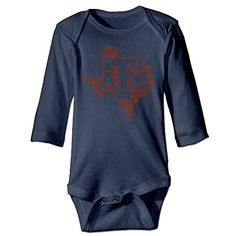 Kamici Baby Texas Am University Long Sleeve Climb Clothes Romper Navy 18 Months ** See this great product.