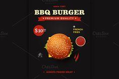 cheeseburger poster design by Alex Fino on @creativemarket