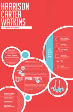 Resume Re-Design by Harrison Watkins, via Behance