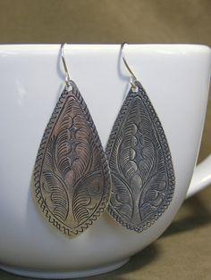 Silver Earrings - Ethnic Earrings - Native Earrings - Hippie Earrings - Bohemian Earrings - Tribal Jewelry