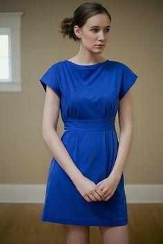 boatneck dress by RiordanRoache on etsy