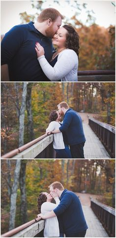 Photography & Design By Lauren- an on location photographer specializing in Weddings, Couples, High School Seniors, Families and Models based in Indiana 502.230.1907   A fall sunset themed engagement session with fall colors and a save the date puppy   Bernheim Forest Clermont KY