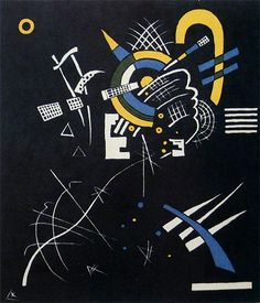Painter Wassily Kandinsky. Graphic works. Little Worlds VII. 1922 - color woodcut