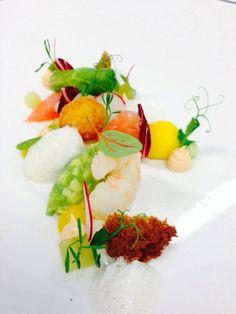 Garnele|Avocado|Kopfsalat|Grapefruit|Mango Gourmet Recipes, Plastic Cutting Board, Avocado, Mango, Cooking, Kitchen, Inspiration, Food, Kitchens