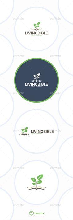 Living Bible - Logo Design Template Vector #logotype Download it here: http://graphicriver.net/item/living-bible-logo/11892190?s_rank=1449?ref=nexion