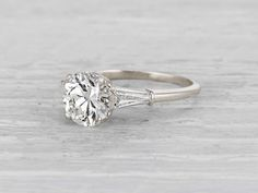 1.58 Carat Art Deco Bailey, Banks & Biddle Engagement Ring