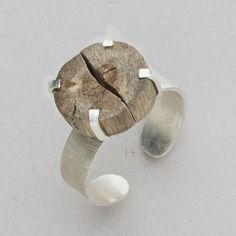 Sometimes we just need to let the tides take us. Let this sterling silver Driftwood Ring be encouragement to go with the ebb and flow. A slice of driftwood, collected from Indonesian beach, is anchored in the prongs of a sterling silver cuff ring. Jewelry Mirror, Sea Glass Jewelry, Clay Jewelry, Jewelry Box, Kids Jewelry, Jewelry Necklaces, Jewelry Findings, Jewelry Sketch, Chunky Necklaces
