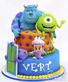 Monsters Inc. - Cake by The Cakerie Cebu Monsters Inc. - Cake by The Cakerie Cebu Monster University Cakes, Monster University Birthday, Monster Inc Cakes, Monster Birthday Cakes, Monster 1st Birthdays, Monster Inc Party, Monster Birthday Parties, Birthday Cupcakes, Sofia The First Cake