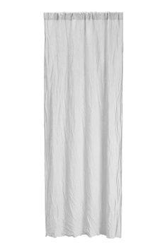 Rideau en lin lavé - Gris clair - Home All | H&M FR 1