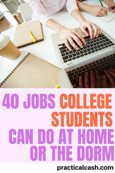 Check out this list of 40 college side hustles to make cash from your dorm or home - perfect for the student looking for online jobs for students Online Jobs For Students, Online Jobs From Home, Student Jobs, Student Studying, College Students, Jobs For Teens, Make More Money, Make Money From Home, Extra Money