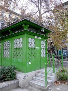 Square Lövölde, Street toilet Budapest Hungary