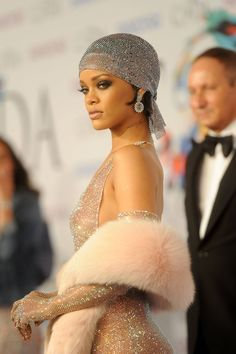 Rihanna in Adam Selman – 2014 CFDA Fashion Awards
