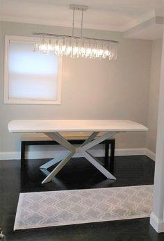 Moderna Base de la mesa X prefabricados modelo 003A por DVAMetal