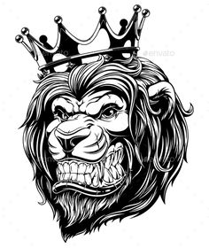 Illustration about Vector illustration the lion king, the head of a lion in the crown, on a white background. Illustration of king, luxury, medieval - 98867378 Tattoo Sketches, Tattoo Drawings, Art Sketches, Lion Design, Animal Design, Vector Graphics, Vector Art, Tattoo No Peito, Crown Drawing