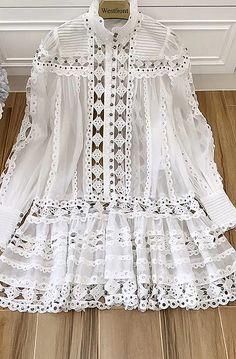 White Fashion, Boho Fashion, Fashion Dresses, Fashion Design, Nice Dresses, Casual Dresses, Summer Dresses, Indian Designer Outfits, Designer Dresses