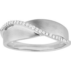 Crossover Diamond Band in White Gold Diamond Bands, Crossover, White Gold, Metal, Bracelets, Rings, Silver, Jewelry, Audio Crossover
