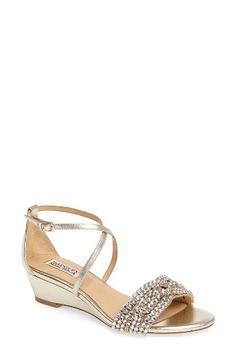 Badgley Mischka Badgley Mischka Tressa Embellished Wedge Sandal (Women) available at #Nordstrom