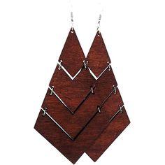 Wood Rasta Earrings ($9.95) ❤ liked on Polyvore featuring jewelry, earrings, wood earrings, earring jewelry, wood jewelry, wooden jewelry and wooden earrings