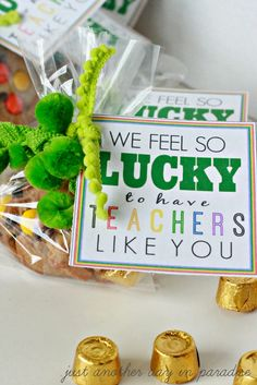 LUCKY To Have Teachers Like You {printable} - Just Another Day in Paradise