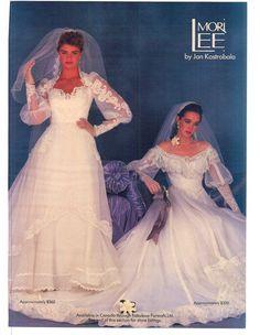 Modern Bride Feb/March 1985 1980s Wedding Dress, Wedding Dress With Veil, Bridal Wedding Dresses, Designer Wedding Dresses, Bridal Style, Chic Vintage Brides, Vintage Bridal, Types Of Wedding Gowns, Retro Weddings