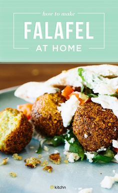 This DELICIOUS wholesome and healthy vegan. We recommend using dried chickpeas over canned. Don't skip the tahini sauce! Vegetarian Recipes, Cooking Recipes, Healthy Recipes, Falafel Recipe, Deep Fryer, Tahini Sauce, Dinners, Meals, Appetizers For Party