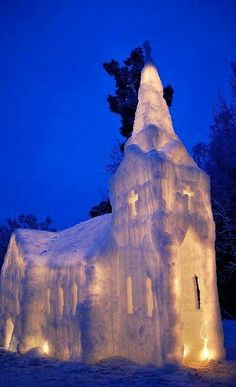 .Frozen Ice Church⛪