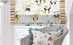 Panda Curtain Fabric In Pretty Pink Curtain Fabric, Curtains, Pretty In Pink, Your Child, Fabric Design, Printing On Fabric, Blinds, Panda, Textile