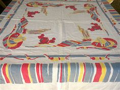 Vintage table cloth for buffet or registration table ($25, Etsy)