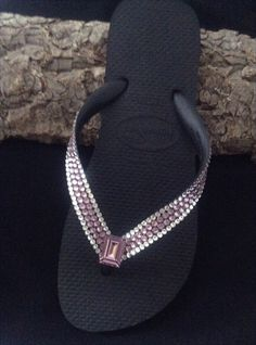 19d2f8894c1cda Amethyst Purple Flip Flops Custom Crystal Lavender Lilac Jewel w  Swarovski Rhinestone  Havaianas Cariris Wedge Beach Wedding Reception Shoes