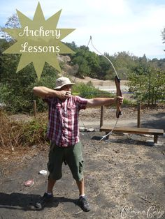 Archery Lessons: Tips & Tricks http://clearwatercottage.blogspot.com/2013/02/archery-lessons-with-ben.html