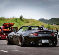 #Mazda #Miata #Roadster #Convertible #Vert #Modified #WideBodyFlares #Slammed #Lowered #Stance