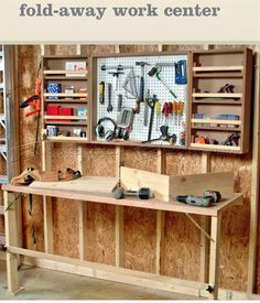 Fold Down Worktable Plans - Workshop Solutions