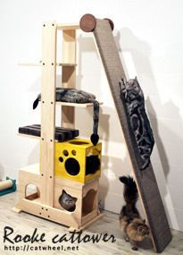 55 Ideas cat tree diy awesome kittens for 2019 Diy Cat Tower, Cat Gym, Cat Jungle Gym, Cat Towers, Cat Playground, Cat Enclosure, Reptile Enclosure, Animal Room, Cat Scratching Post