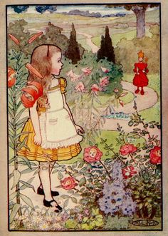 curious, kirk illustr, alice in wonderland, art, maria kirk