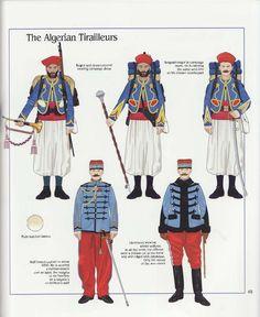 The Algerian Tirailleurs, French Army, 1914