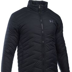 Under Armour Coldgear Reactor Jacket - Men's Under Armour Jackets, Under Armour Men, Mens Outdoor Fashion, Compression Clothing, Fall College Outfits, Under Armour Coldgear, Long Sleeve Tee Shirts, Running Jacket, Outerwear Jackets