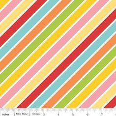 Hello Sunshine Stripe Multi by Lori Whitlock for by SewCuteFabric