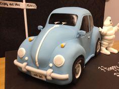VW beetle car cake. This looks like my very 1st bug!