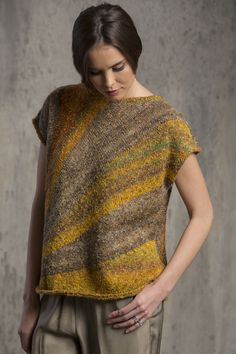 Botticelli Top in TEMPO: The Missoni-inspired colorations of cotton-blend Tempo are highlighted in this boxy pullover. Available in sizes S/M (L/XL, 2X/3X).