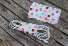 cord organizer polka dot favors stocking stuffer gifts for her girlfriend gifts fabric cord keeper cord keeper polka dot Easy Yarn Crafts, Upcycled Crafts, Fabric Crafts, Sewing Crafts, Fabric Shears, Sewing To Sell, Organize Fabric, Small Sewing Projects, Cord Organization