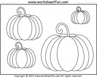 Pumpkin coloring worksheets