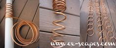 Basic metal craft tutorial, no welding or soldering required (though you could if you know how): DIY Copper Rain Chain, by K of ex-scap. Copper Crafts, Copper Art, Wire Crafts, Metal Crafts, Diy Garden, Garden Crafts, Garden Ideas, Indoor Garden, Garden Projects