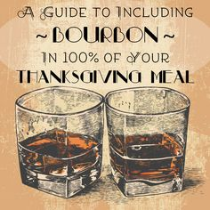 A Guide To Including Bourbon In Of Your Thanksgiving Meal. Sounds like the perfect thanksgiving to me! Whisky, Bourbon Whiskey, Whiskey Cake, Thanksgiving Drinks, Thanksgiving 2017, Holiday Recipes, Great Recipes, Bar Recipes, Drink Recipes